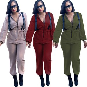 recommended urban casual fashion zipper Jumpsuit womens designer tracksuits