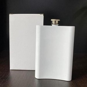 Blank Heat Sublimation Flask Hip Flask Stainless Steel Water Bottle Double Wall DIY Lover Outdoor Tumblers Drinkware 8 oz