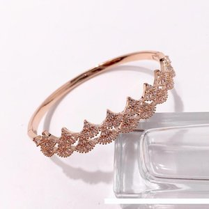 copper yellow white rose gold plated full Cubic zirconia stone paved bangle for women new arrival luxury Beautiful fashion jewelry