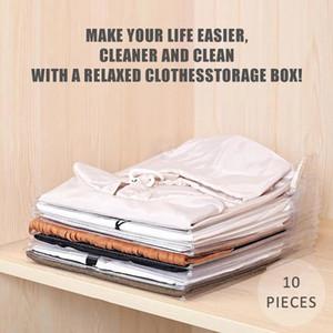 10 Layer Clothes Storage Board Fold Clothing Organizer Shirt Folder Backpack T-shirt Document Closet Drawer Divider Organizer Y1130