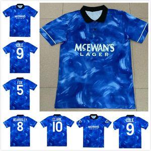 1993 1994 Rob Lee Andy Cole Retro Soccer Jersey 93 94 BeaDsley Fox Fox Clark Vintage Classic Football Shirt