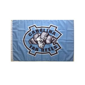 North Carolina Tar Heels UNC Flag NCAA Flag 3x5FT Double Stitched Decoration Banner 90x150cm Sports Digital Printed Wholesale