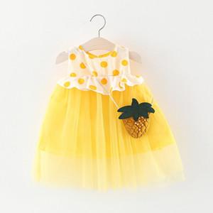 Children's clothing girl dress wholesale Splicing Korean version of the summer little girl skirt female baby dot skirt 201129