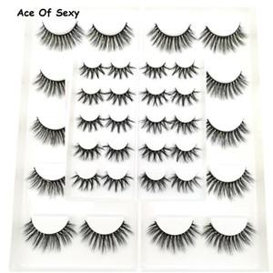 10 Pairs 3D Soft Faux Mink Hair False Eyelashes Natural Messy Eyelash Crisscross Wispy Fluffy Lashes Extension Eye Makeup Tools