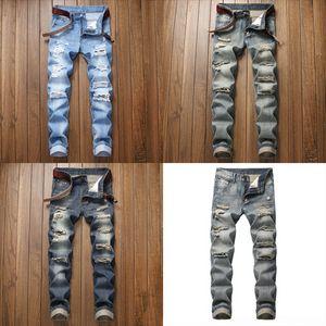 PE82O Browon Marca Hombres Jeans Verano Thin Transpirable Suave Mid Straight Hole Oruario Hombres Jeans Pantalones Vintage Jeans Hombre Desel