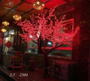 2.5m 2304pcs LED LED lucido Led Cherry Blossom albero di Natale illuminazione Giardino impermeabile Lampada decorazione del paesaggio per la festa di nozze