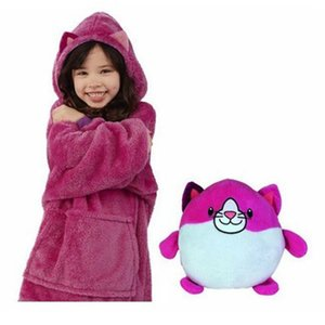 Children's Hoodies & Pillow Magic Pets Hoodies as Kids' New Year Birthday Gift Plush Animals Turn into Hooded with Giant Pocket