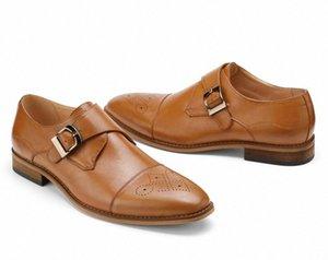 GM Golaiman 2020 Masculino Monk-Strap Loafer Casual Lazer Negócios Trabalho Vestido Sapatos de Alta Qualidade Esportes Sneakers R1WM #