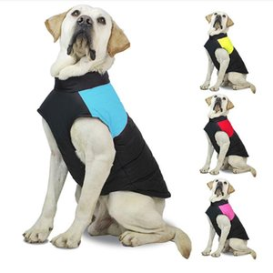 Waterproof Dog Warm Waistcoat Pet Dog Vests Coats with Leashes Rings Autumn Winter Pet Dog Clothes WQ158