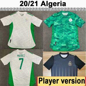 20 21 Argélia Mahrez Feghouli Versão Version Mens Futebol Jerseys Nova equipe Nacional Slimani Bennacer Home Away Balck Futebol Camisa Uniformes