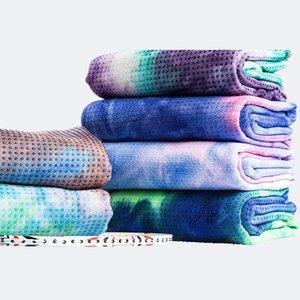 Oyoo tie-tintura impressão yoga cobertor suor-absorvente profissional yoga treinamento cobertor fechar pele non-flip esteira colorida toalha