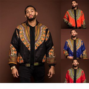2019 African Men Jacket Print Rich Bazin Long Sleeve Fashion Africa Traditional Dashiki Coat for Male Clothing S-XL