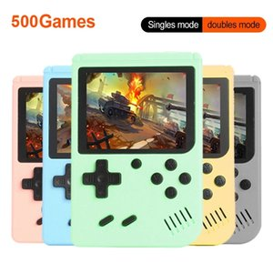 Macaron Mini Pocket Game Players Retro Video Game Consoles Support AV Output TV Video for FC 8-Bit Classic 500 Games for Kids Gifts
