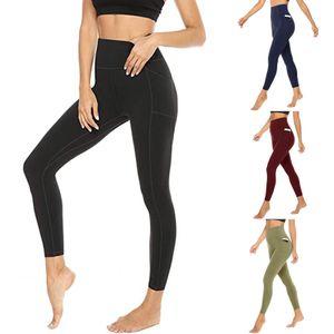 Popo Kaldırma Tayt Kadınlar için Pocket-Bayan Egzersiz Tayt Kadınlar için Yüksek Bel Yoga Pantolon