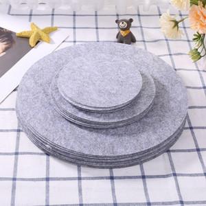 Conjunto de 48 separadores de placa de fieltro suave 3 Tamaños Pan separador Pan Separator Pads Utensilios de cocina Cakeware Pot Protectores de apilamiento Plato protector protector