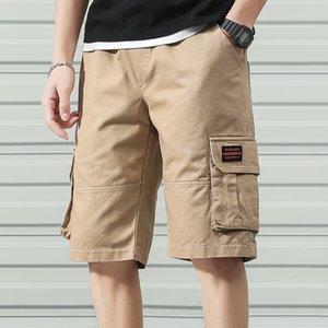 Anbican Mode Sommer Cargo Shorts Männer Baumwolle Casual Shorts Männliche Lose Kurze Hosen Y200901