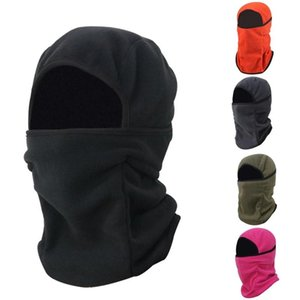 Fashion Unisex Winter Warm Fleece Balaclava Windproof Breathable Hooded Collar Scarf Beanie Hat