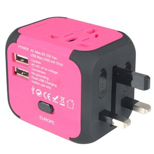 Dual USB AU UK US EU Universal Travel AC Power Charger Adapter Plug Converter