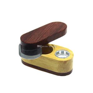 Twist-Mundstück Hölzerner Raucher-Pfeife faltbares Holz-Tabak-Rohr trockenes Kräuter-Rohr mit Aufbewahrungsgefäßbehälter