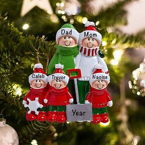 Christmas Ornaments 2020 Pendants PVC Xmas Tree Candy House Sled Hanging Smile Family DIY Name Decor Pendant New Arrival 5 99zba G2