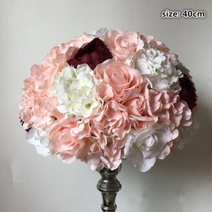 New Artificial flower ball centerpieces mix color rose hydrangeas for wedding party backdrop decoration