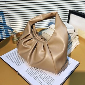Autumn Winter Elegant And High-Quality Pleated Underarm Bags 2021 New Fashion Western Women's Designer One-Shoulder Handbags Q1120