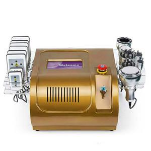 2020 Горячая распродажа 6 в 1 Кавитация Ультразвуковая липовая машина для похудения 40K кавитационный вакуумный липолязер RF многополярный бипольский корпус машина