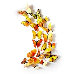 12 adet / grup Pin Süs Duvar Çıkartmaları Sevimli Kelebekler Duvar Çıkartmaları Sanat Çıkartmaları Ev Dekorasyon Oda Sanatı