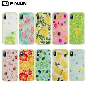 Small Limpid Fresh Fruits Epoxy Design Phone Case For iPhone XS Max Wave Frame Anti-drop Mobile Cover