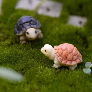 Mini Turtles Landscape Ornaments Resin Garden Decorations Fairy Garden Miniatures Garden Bonsai Dollhouse Decorations Resin Craft GWD3524
