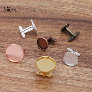 BOYAUTE (20 pièces / Lot) Rond 12-14-16-18-20mm Coupes de manchette vierge Liens de base Bezel Vintage bricolage Hand fabriqué bijoux accessoires
