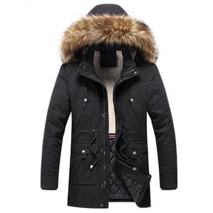 2021 Fur Collar Hooded Parkas Coat Male Clothing Winter Men Parkas Coats Quality Brand Men's Plus Velvet Thick Long Overcoat