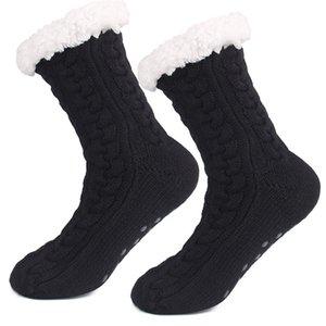 Slipper Slipper Socken Häkeln Stricksocke Chunky Fleece Plüsch Knöchel Sockel Socken Rutschfeste Kaschmir Lange Strümpfe Regen Schneeschuhe Socke E121506
