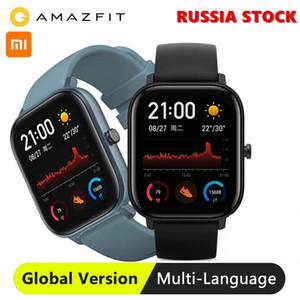 글로벌 버전 Amazfit GTS Xiaomi 스마트 시계 5ATM 방수 수영 Smartwatch 새로운 14 일 배터리 음악 제어 안드로이드 전화
