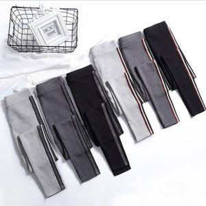 2020 Spring Summer Cotton Leggings Women High Waist Side Stripes Sporting Fitness Leggings Pants Slim Leggings High Quality