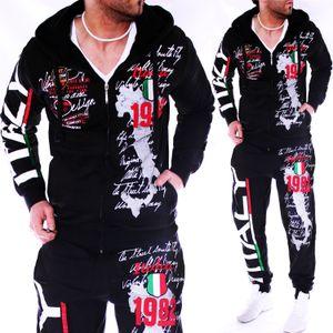 Zogaa Anzug beiläufige sweatsuits Men 2 Stück Outfits Sportjacken und Hosen Herren Passende Workout Trainingsanzug