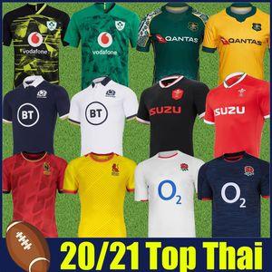 2020 2021 Jersey de la Coupe du monde de rugby Espagne Angleterre Australie Rugby Shirts 20 21 Irlande Écosse Galles Rugby Jerseys National Team Uniforms Top