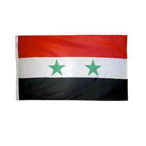 Custom Syria National Country Flags Wholesales 3'X5' Foot 100D Polyester High Quality With Two Brass Grommets