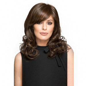 Instock Short Bob Wigs Wavy Brown Ombre Synthetic Wig For Women durable using body wave lace front wigs body wave wig