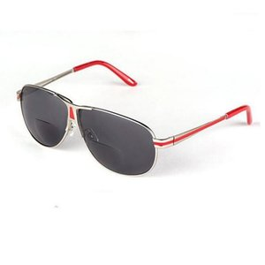 Damen Männer BIFOCE SUN LESEN GLÄNDE Doppel Metall Presbyopic Glasses Reecription Brillen Lupe A11