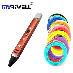 Myriwell 3rd Drawing USB Plug Creative graffiti Digital 4 speed regulation Best Gift For Kids 3D printing Pen 201214