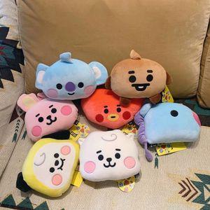 Kpop plush toy cute animal baby car pillow dog rabbit koala stuffed toy exquisite gift for girlfriend fans Present 201027