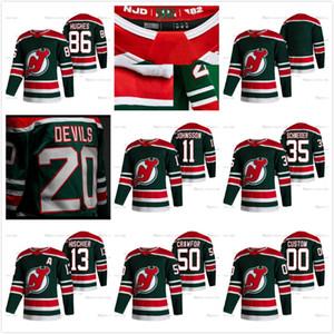 New Jersey Devils 2021 Reverse Retro Herren Womens Kinder Jack Hughes Corey Crawford PK Subban HiSchier Wayne Simmonds Schneider Brodeur Trikots