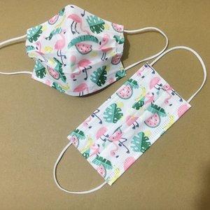 Партия Маленькая свежая цветочная маска одноразовые взрослые трехслойные с плавным фильтром с расплавом ткани мода пользовательские одноразовые маска D1021