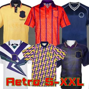 1982 Scotland Retro Soccer Jersey 1986 DALGLISH GALACHER MCCOIST 1998 94 96 Chemises de football Lambert S-XXL