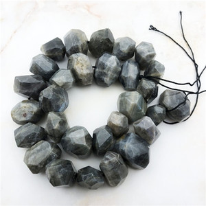 polished faceted Labrador nugget Fashion beads, polyhedral quartz spectrum stone loose diamond beads jewelry manufacturing