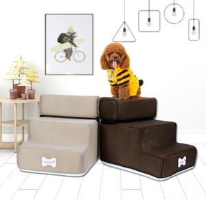 Hot Dog House Dog Stairs Pet 3 Steps Stairs for Small Cat Pet Ramp Ladder Anti-slip Removable Dogs Bed Supplies