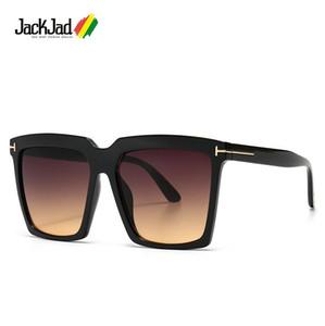 Jackjad 2020 Mode Vintage Übergroße Quadratische Sabrina-Stil Sonnenbrille Frauen Ins Brand Design Sonnenbrille 0764