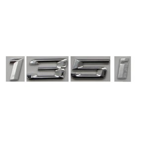 Chrome Shiny Silver ABS Number Letters Words Car Trunk Badge Emblem Letter Decal Sticker for BMW 1 Series 135i