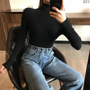 2021 AUTUMN Winter women Knitted Turtleneck Sweater Casual Soft polo neck Jumper Fashion Slim Femme Elasticity Pullovers